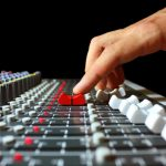 Hand on a mixer radio imaging