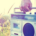 radio in hand